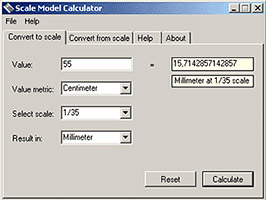 Scale calculator